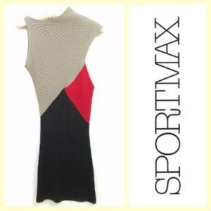 Sportmax/Max Mara chunky wool knit dress